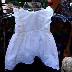 Baby B'Gosh White Toddler Dress
